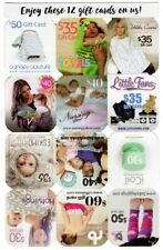 $480 Baby Gift Cards Babsy Books iCoil Hot Slings Little Fans Seven Baby Hooded