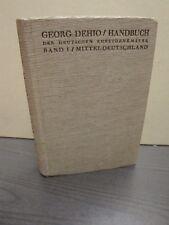 Handbuch der Deutschen Kunstdenkmäler Band I Mitteldeutschland  Dehio George