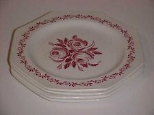 J & G Meakin  Pink Trio Pattern Dinner Plate Set