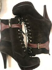 Guess Jirina Women's Brown Suede Leather Ankle Boots Size 6