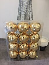 DECORATION  NOEL 96 BOULE A SUSPENDRE AU SAPIN LOT DE 8 BOITE DE 12 BOULES OR