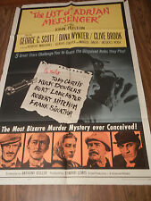 The List of Adrian Messenger 1963 Original 1 Sheet Movie Poster George C. Scott