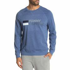 BNEW Tommy Hilfiger Men's Logo Print Fleece Lined Sweatshirt,  Blue haze, medium
