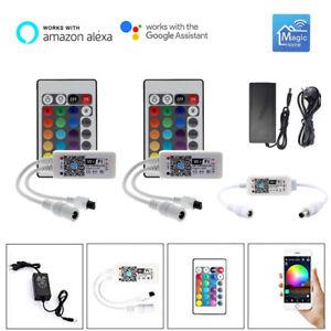Smart WiFi Led RGB RGBW Controller + Remote Voice Control 5V-24V fr Alexa Google
