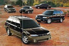 1999 Subaru Brochure / Catalog: IMPREZA,OUTBACK,FORESTER,30th Anniversary LEGACY