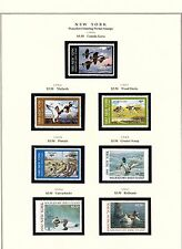 STATE OF NEW YORK HUNTING PERMIT STAMPS 1985-2002 ON (3) PAGES CV $192 BT6441