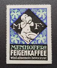 Cinderella Poster Stamp Menhofers Feigenkaffee Germany (7601)