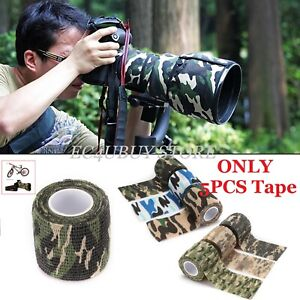1 Roll 5cm x 4.5m Military Camouflage Self Sticking Rifle Tool Stealth Wrap Tape