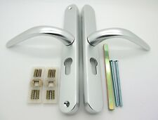 48mm Upvc Aluminium Door Handle Monarch Silver 215mm Fixing Screws