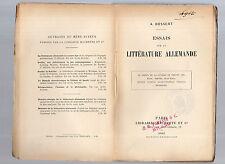 essais sur la litterature allemande par a. bossert