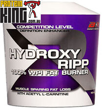 BODY RIPPED HYDROXY RIPP 1KG CHOCOLATE FAT BURNING PROTEIN RIP SUPER SHRED MAXS