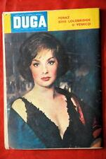 GINA LOLLOBRIGIDA ON BACK COVER 1962 RARE EXYU MAGAZINE