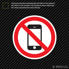 No Cell Phone Zone Sticker Decal Self Adhesive Vinyl mobile