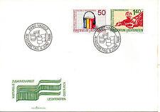 Liechtenstein Sobre primer día con serie del año 1988 (AQ-689)