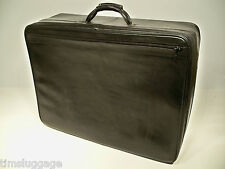"Hartmann Luggage Black Belting Leather 26"" Soft Pullman Suitcase"