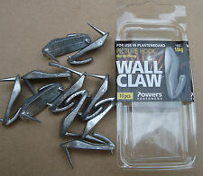 """Picture Hooks """"WALL CLAW"""" Pkt 10 max load 10kg for plasterboard free post"""