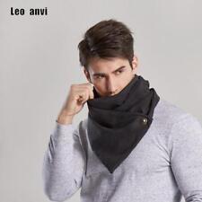 Men Scarf With Button Infinity Cowl Neck Tube Scarf Fashion Design Black Gray