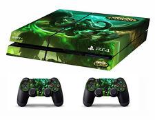 PS4 vinyle peau sticker war of warcraft legion pour console & 2 contrôleurs