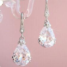 Wunderschöne 925 Silber Ohrhänger für Damen Schmuck Zirkonia ein Paar/Set