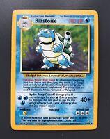 Blastoise Holo Base Set 2/102 - Pokemon Card - Near Mint / Excellent - PSA