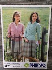 "Phildar Knitting Pattern: Ladies Cardigans, DK, 32-42"", 5217"