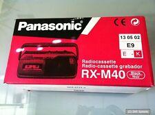 Panasonic RX-M40Radio Rekorder mit Kassettendeck,  UKW / MW, Schwarz, NEUWARE