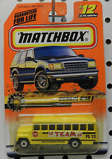 SCHOOL BUS GO TEAM YELLOW OAKLYN 33 BIG MOVERS 12 1998 MB MBX MATCHBOX