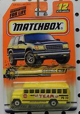 SCHOOL BUS GO TEAM YELLOW OAKLYN 33 BIG MOVERS 12 1998 MB MBX MATCHBOX