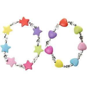 12 Armbänder Kinderarmband Stern & Herz Kindergeburtstag Mitgebsel Geschenkidee