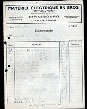 """STRASBOURG (67) MATERIEL ELECTRIQUE """"DREYFUSS & PICARD"""" en 1932"""
