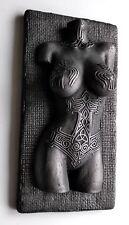 Viking Norse Female Valkyrie Nude Torso Tattoo Odin Raven Mjolnir Iron Sculpture
