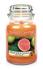 Yankee Candle DELICIOUS GUAVA Large Jar 22 oz European Label RARE & HTF
