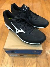 NEW IN BOX ($109) MIZUNO DOMINANT IC BASEBALL CLEATS SHOES Men's 11 BLACK