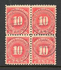 Scott # R212, Used, Block of 4, F, 10¢ Documentary, Mansfield Sheet & T. P. Co.