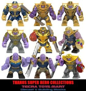 8 PCS MINIFIGURES lego MOC Super Heroes Big Size Venom Thanos Bricks Hulkbuster