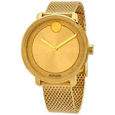 Authentic Movado Bold Yellow Gold Color Band and Dial Women's Watch 3600580