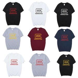 Glock T Shirts Men Tops Cotton Short Sleeve Glock Perfection T-shirt Mans Tshirt