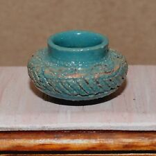 dollhouse miniature vase painting 1:12 pot clay