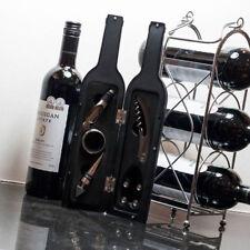 DE LUJO Vino Regalo Accesorio Set en botella forma Funda, sacacorchos, SEPARADOR