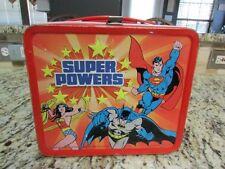 Vintage Good Rare Old 1983 Super Powers Metal Lunchbox