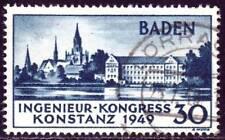 BADEN FRENCH OCCUPATION ZONE Mi. #46 scarce used stamp! CV $102.50