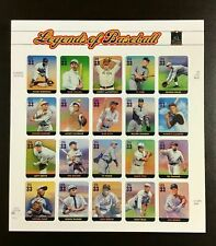 US 3408a-t  - 33c - SHEET OF 20 - 'Legends of Baseball' MNH Pl. P4444