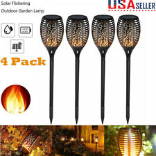 New listing 4 Pack Solar Torch Outdoor Garden Yard Flame Dancing Light 33Led Flickering Lamp