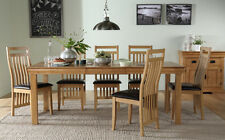 Fenchurch Oak Extending Dining Room Table & 4 6 8 Bali Chairs Set (Brown)
