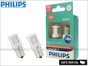 1156 P21W PHILIPS ULTINON RED BRAKE LED Bulbs 12V BRIGHT! 1156RULRX2 (Pack of 2)