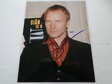 """THE POLICE /STING AUTOGRAPH A SIGNED 10"""" BY 8"""" PHOTOGRAPH"""
