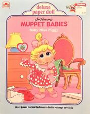 Muppet Babies Deluxe Paper Doll Book, Whitman 1991, Uncut, 9 Pages of Clothes