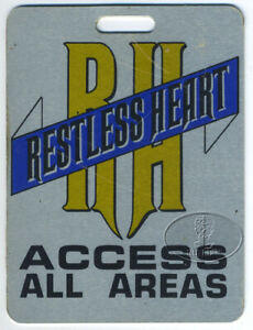 RESTLESS HEART 1986 Tour Crew Aluminum Luggage Tag All Access