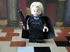 Lego Mini Figure Harry Potter Lucius Malfoy with Hood and 2-Sided Head
