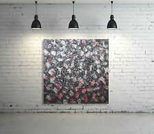 UNIKAT Leinwand Bild ORIGINAL Gemälde Abstrakt HANDGEMALT modern Acryl XL Braun